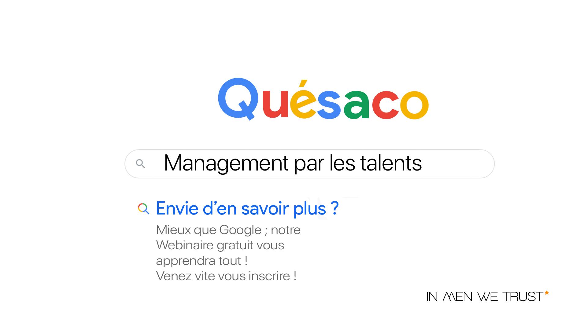 Management par les talents késaco IN MEN WE TRUST webinaire